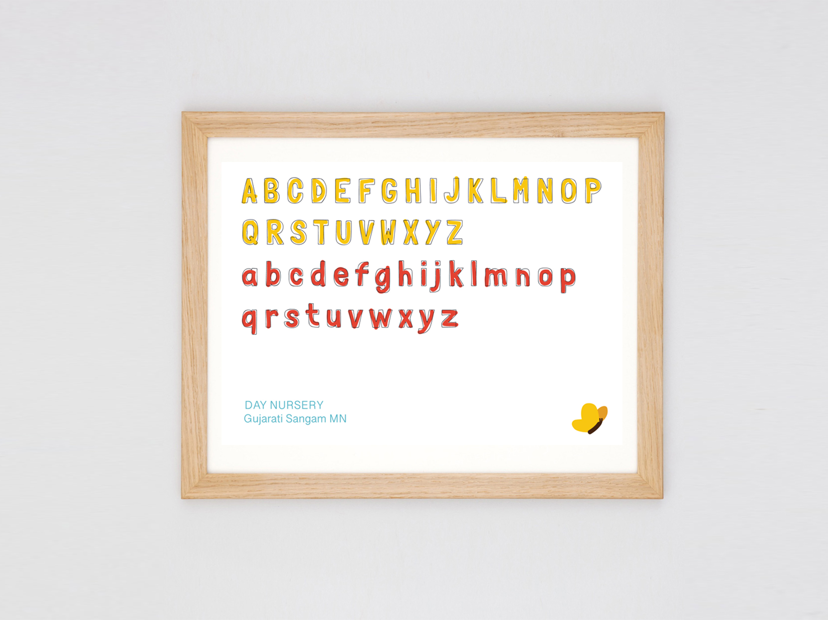 Bespoke typography design for Growing Minds Nursery