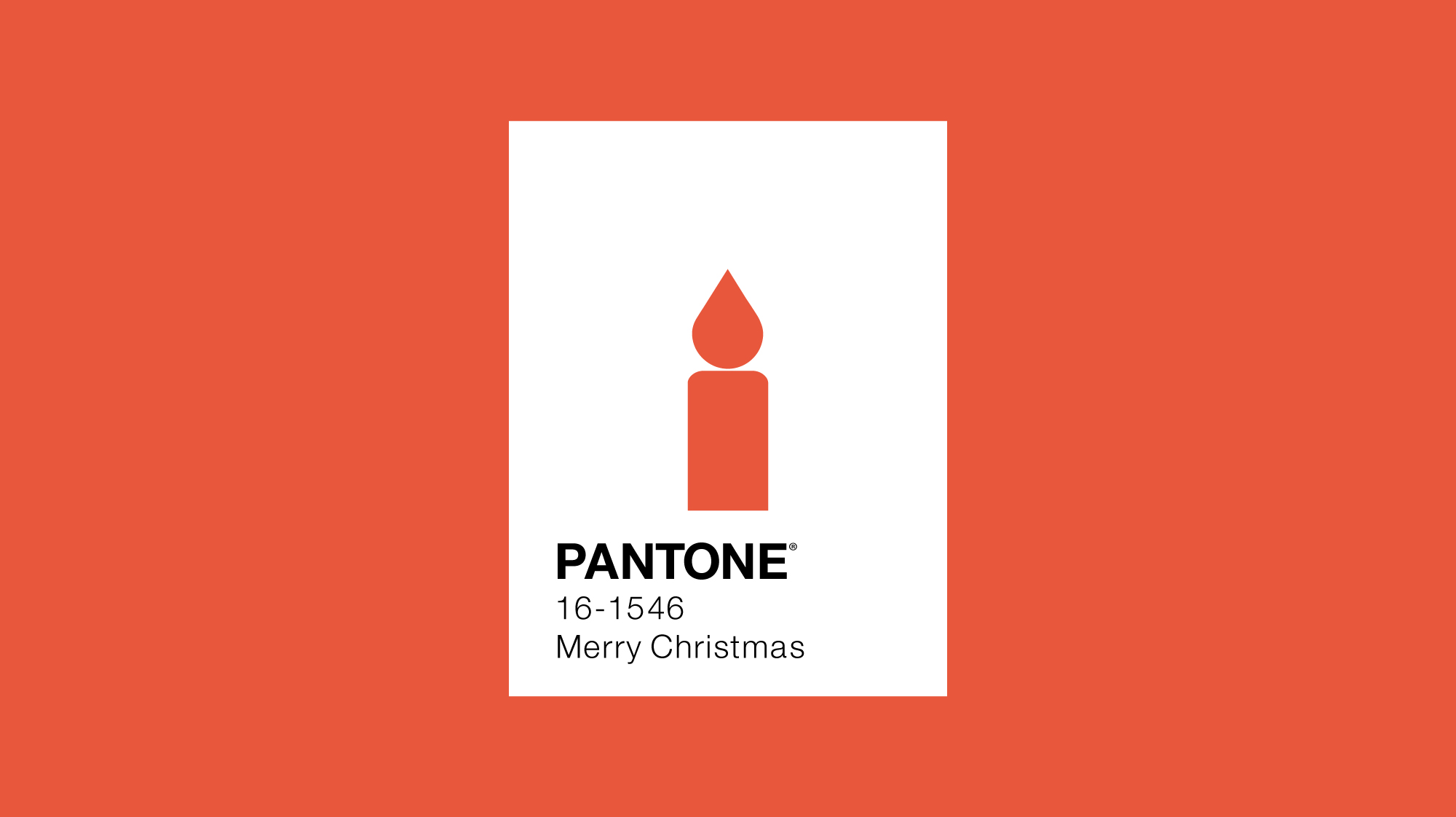 Pantone colour of the year 2012 minimal design with candle