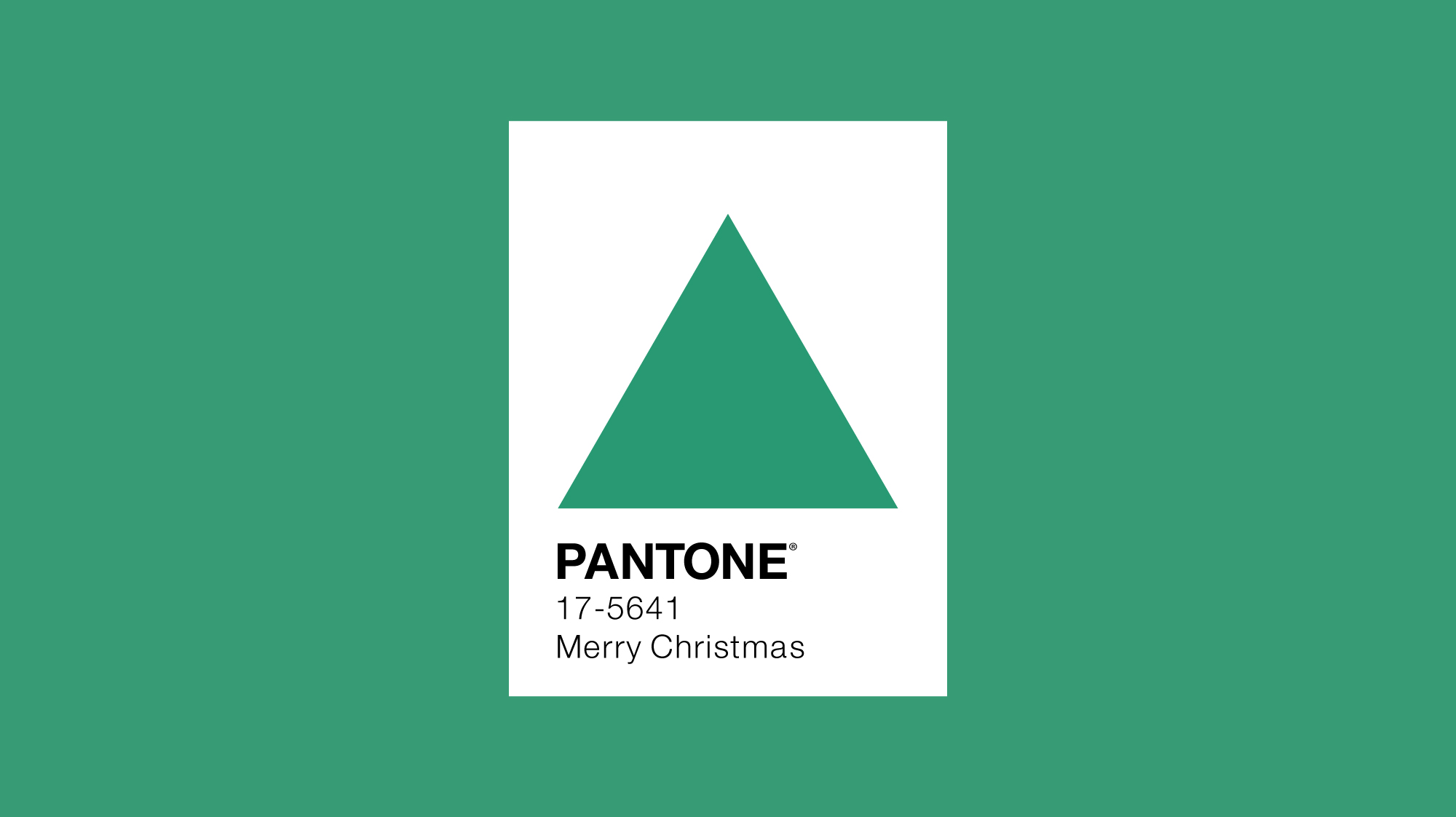 Pantone colour of the year 2013 minimal design with Christmas tree
