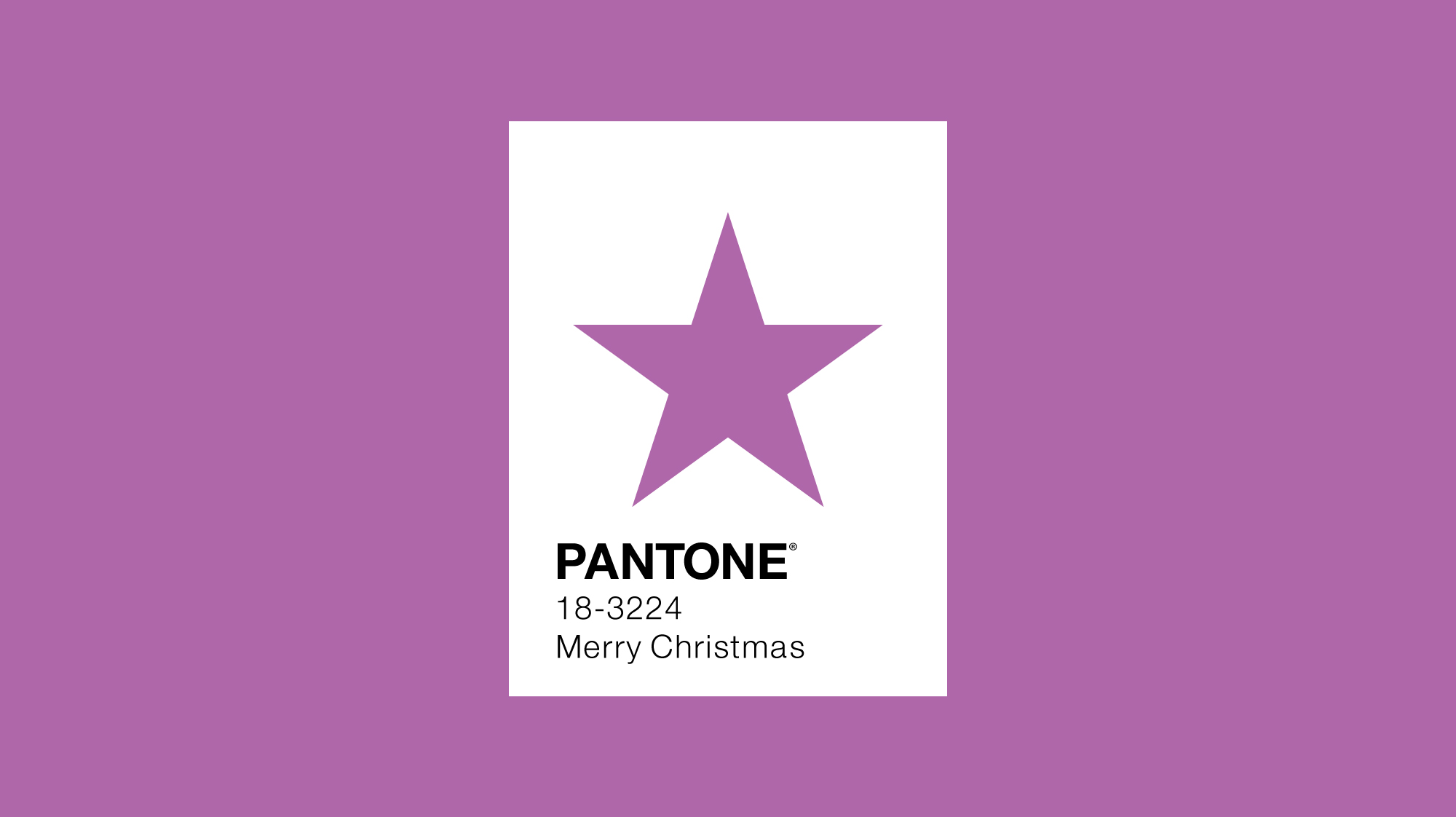 Pantone colour of the year 2014 minimal design with star