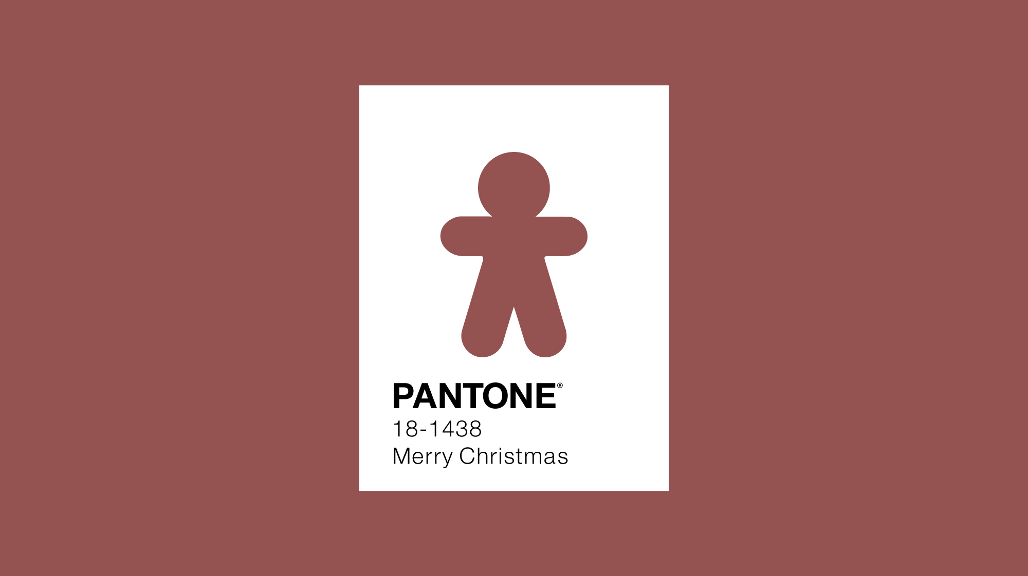 Pantone colour of the year 2015 minimal design with gingerbread man