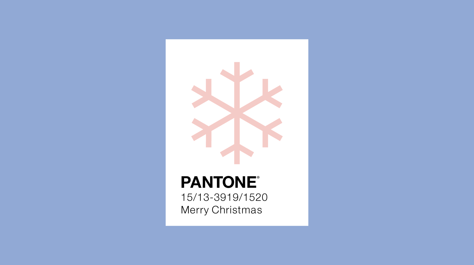 Pantone colour of the year 2016 minimal design with snowflake