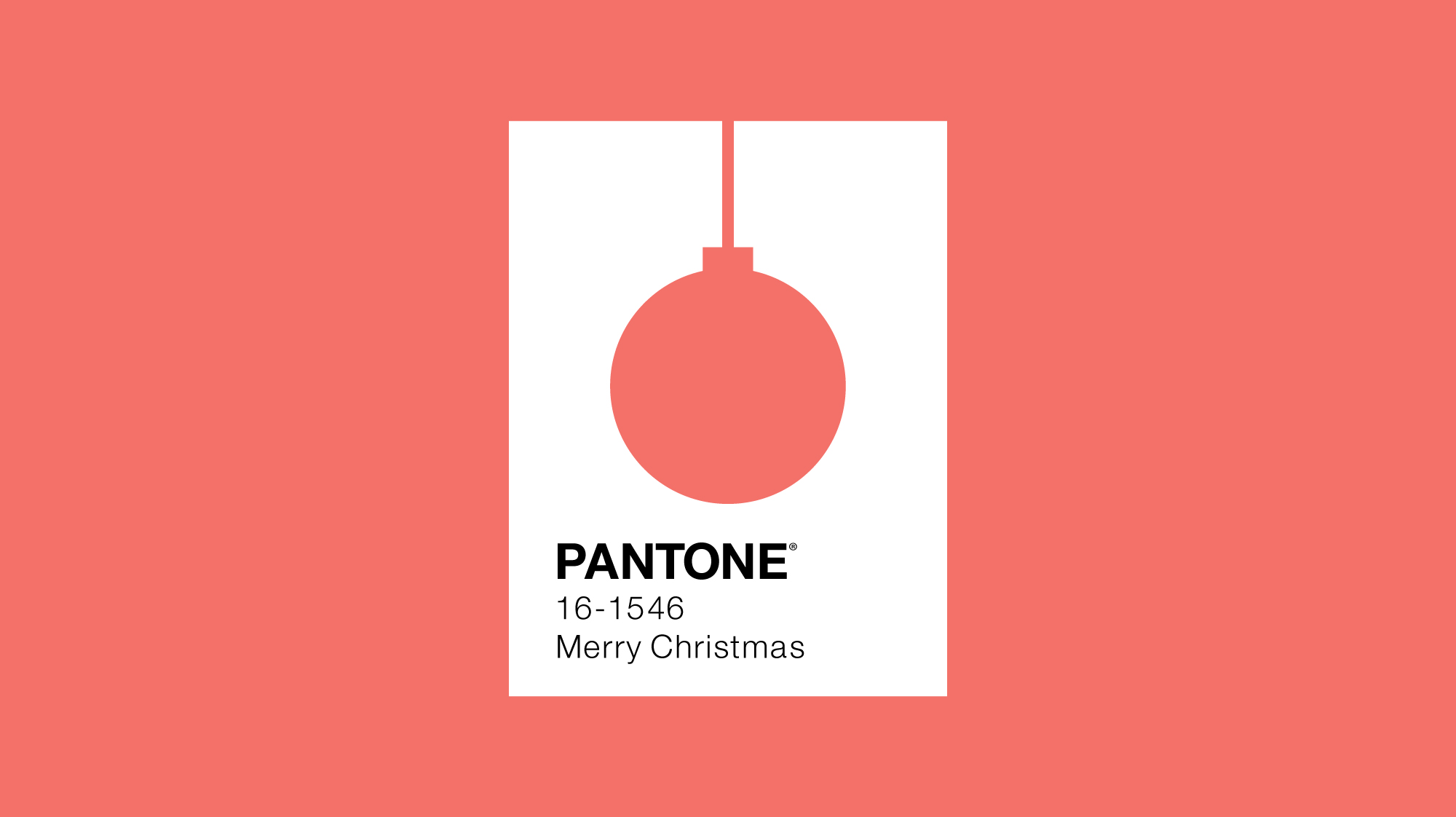 Pantone colour of the year 2019 minimal design with bauble